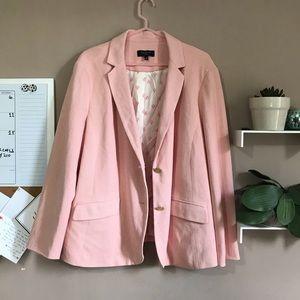 Talbots blush pink cotton blazer size 22w